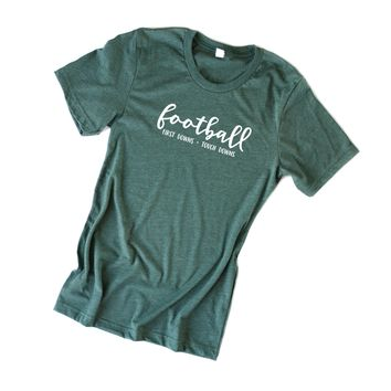 Football First Downs + Touch Downs Tee