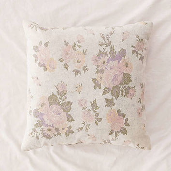 Juliana Floral Acid Wash Denim Pillow | Urban Outfitters