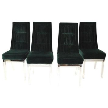 Pre-owned Charles Hollis Jones Lucite Dining Chairs
