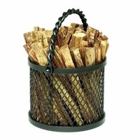 Twisted Rope Firewood Basket Caddy