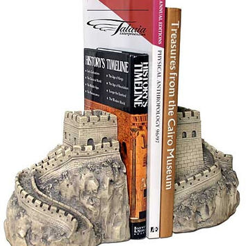Great Wall of China Architecture Famous Monument Bookends 7H
