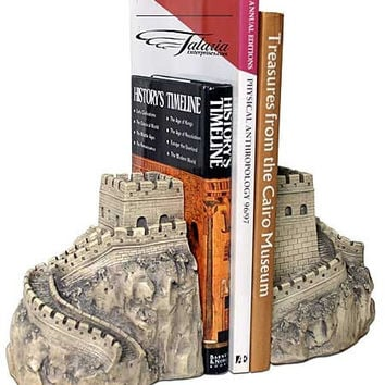 Great Wall of China Architecture Famous Monument Bookends 7H - 5582