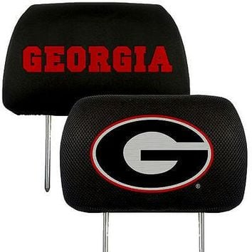 Georgia Bulldogs 2-Pack Auto Car Truck Embroidered Headrest Covers