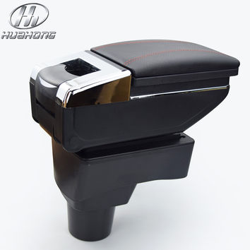 Car armrest central Store content Storage box with cup holder ashtray accessories for Chevrolet Aveo Sonic Lova 2011-2014