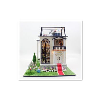 """Handmade Wooden Doll Houses with Miniature Furniture,""""The little Prince's Rose"""" Dollhouse DIY Toys for Children Gift"""