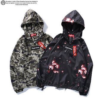 Supreme 2017 Sun Protection Clothing Green Camo Fireworks M 2xl