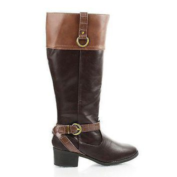 Candice By City Classified, Ankle Harness Mid Calf Riding Boots