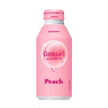Suntory Peach Gokuri Soft Drink , 14 fl oz (400 g)