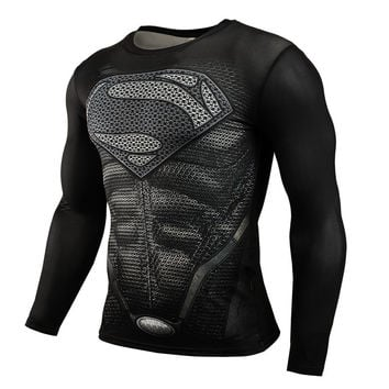 Fitness Compression Superman, Iron Man, Hulk, Ect. Bodybuilding/Crossfit Shirt