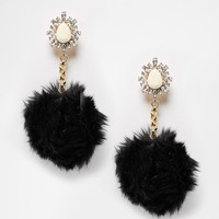 Rock 'N' Rose | Rock 'N Rose Eugenie Pom Pom Drop Earrings at ASOS