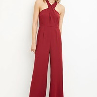 Contemporary Cross-Front Jumpsuit