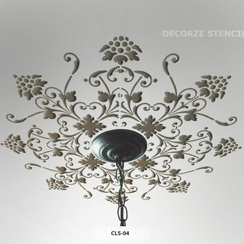 Ceiling painting stencil ideas, CLS-04