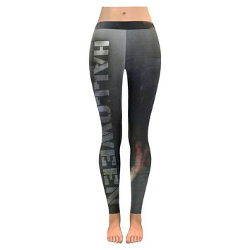 halloween zombie Low Rise Leggings (Invisible Stitch) (Model L05)