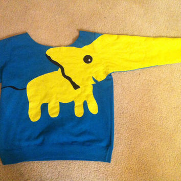 Custom Elephant Sweatshirt by twentyfifthandgrey on Etsy