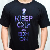 Brand New Greater Apparel Keep Calm and EDM On Crew-Neck T-Shirt