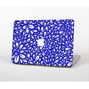 The Royal Blue & White Floral Sprout Skin Set for the Apple MacBook Air 11""