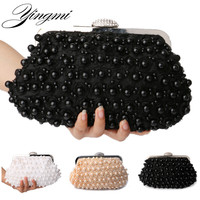 New rose beaded women evening bags day clutch purse evening bag shell design handmade wedding bridal for wedding