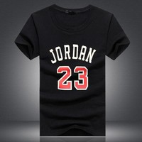 DCCKHD9 Brand Clothing 23 jordan t shirt Swag T-Shirt Cotton Men Tshirt Homme Fitness Camiseta