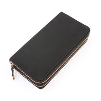Double Faux Zipper Wallet