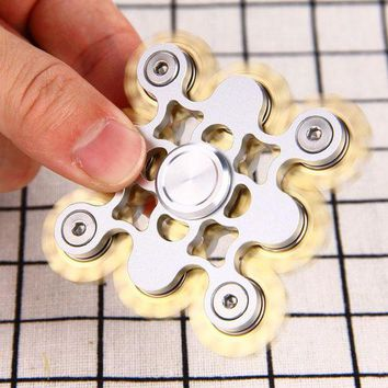 DCCKU7Q Do Dower EDC Hand Spinner Fidget Spinning Top Brass Aluminum Stress Reliever Fidget Spinner Hand Educational Toys for Kids Adult