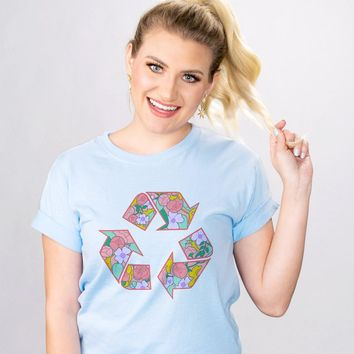 Floral Recycle Eco Shirt