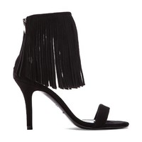 elysewalker los angeles Suede Fringe Heel in Black