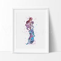 Princess Megara Watercolor Art Print