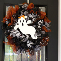 Halloween Wreath, Halloween Door Hanger, Halloween decoration Ready to ship