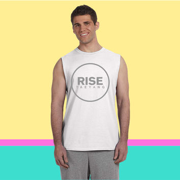 Rise - Bigbang Taeyang - Grey Sleeveless T-shirt
