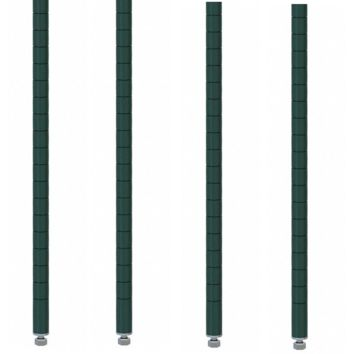 "Commercial Walk-In Box Heavy Duty Green Epoxy Posts for Shelving 8"" (Pack of 4)"