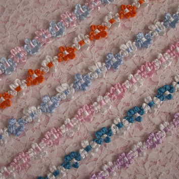 Rococo Ribbon Trim, Assorted Colors, Apparel, Bridal Accesories, Favors, Doll Clothes, Costumes, Scrapbooking, Decorative Trim, 3 YARDS