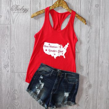 One Nation Under God Tank Top