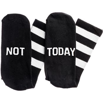Not...Today Socks in Black and White