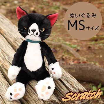 Black Cat Scratch Smooth Touch Plush Doll (MS size / Socks)