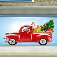 Christmas Garage Door Cover Banners 3d Holiday Outside Decorations Outdoor Decor for Garage Door G61