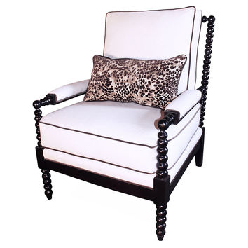 Taylor Burke Home, Gregg Chair, Ivory, Accent & Occasional Chairs
