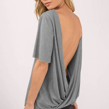 Matilda Twisted Back Knit Top