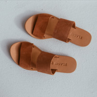 KEIKO Double Strap Slides - Clay Suede