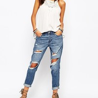 Hollister Destroyed Boyfriend Jeans