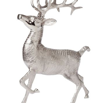 Metallic Lodge Standing Buck Decoration