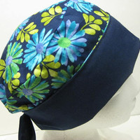 REVERSIBLE, Chemo, Alopecia, Headwear, Surgical Scrub, Scrub Cap, Hair Loss Hat, CapWrap