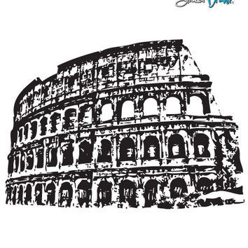 Vinyl Wall Decal Sticker Roman Colosseum Rome Italy BIG #354