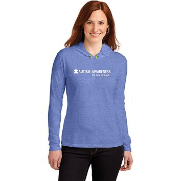 Buy Cool Shirts Autism Awareness Time to Listen Ladies Hooded Shirt