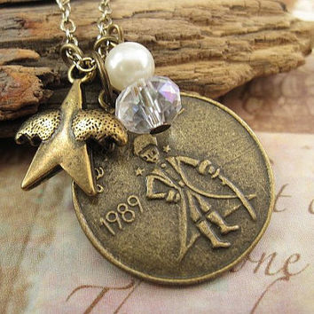 Shooting star Little Prince inspired necklace by trinketsforkeeps