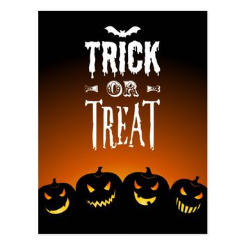 Halloween Trick Or Treat Postard Postcard