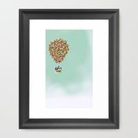 Up Framed Art Print by Derek Temple | Society6