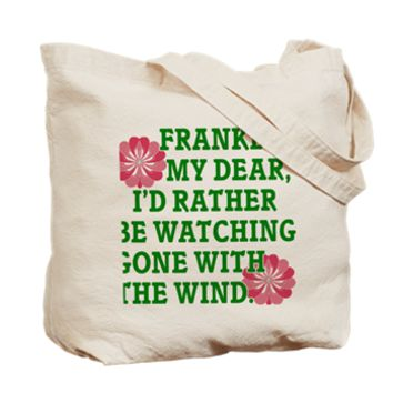 Rather be Watching GWTW Tote Bag> I'd Rather be Watching Gone With the Wind> Rhett And Scarlett