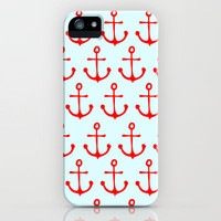 small anchor pattern iPhone Case by alice@22CreativeGraphicBoutique | Society6