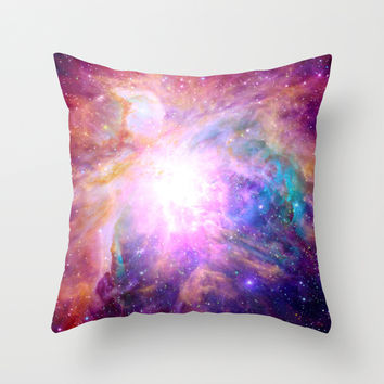 Galaxy Nebula Throw Pillow by Matt Borchert