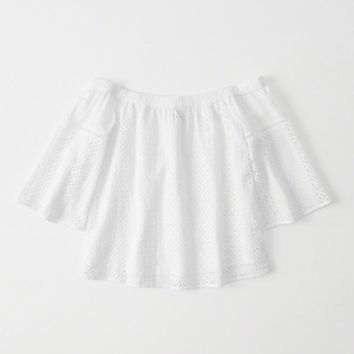 Womens Off-The-Shoulder Eyelet Top | Womens New Arrivals | Abercrombie.com